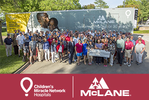 McLane Company truck wrapped